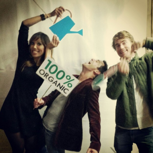 Photobooth poses at the launch