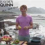 Hayden Quinn in a pink shirt