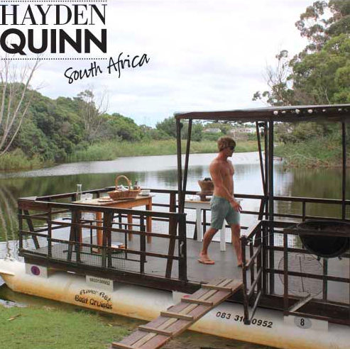 Hayden Quinn boarding a River Rat pontoon