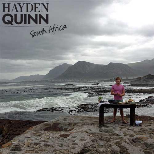 Hayden cooking on the Walker Bay coast
