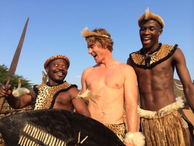 Hayden in Zulu attire